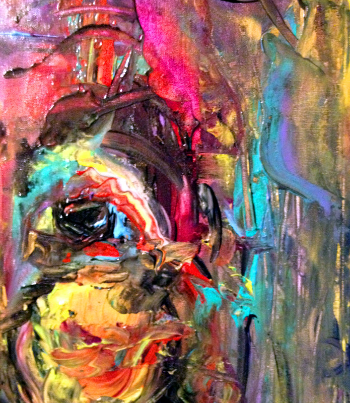 Figurative Abstract Painting Contemporary art: homage to de Kooning