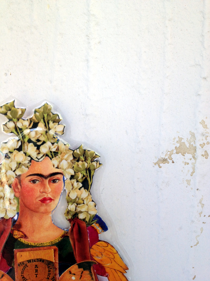 Frida Kahlo paper doll The Bride collage