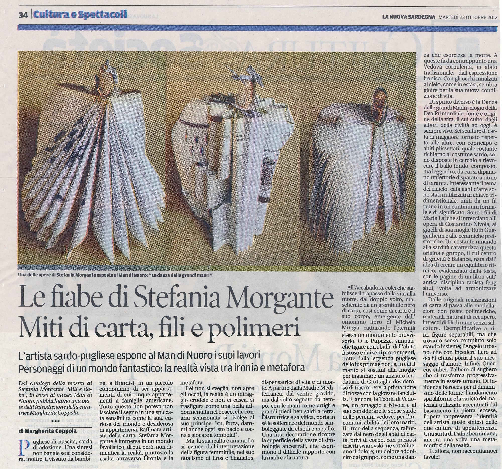 Press-NewsPaper La Nuova Sardegna Myths Fairytales